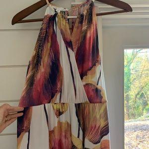 London Times Maxi Dress - Halter Style